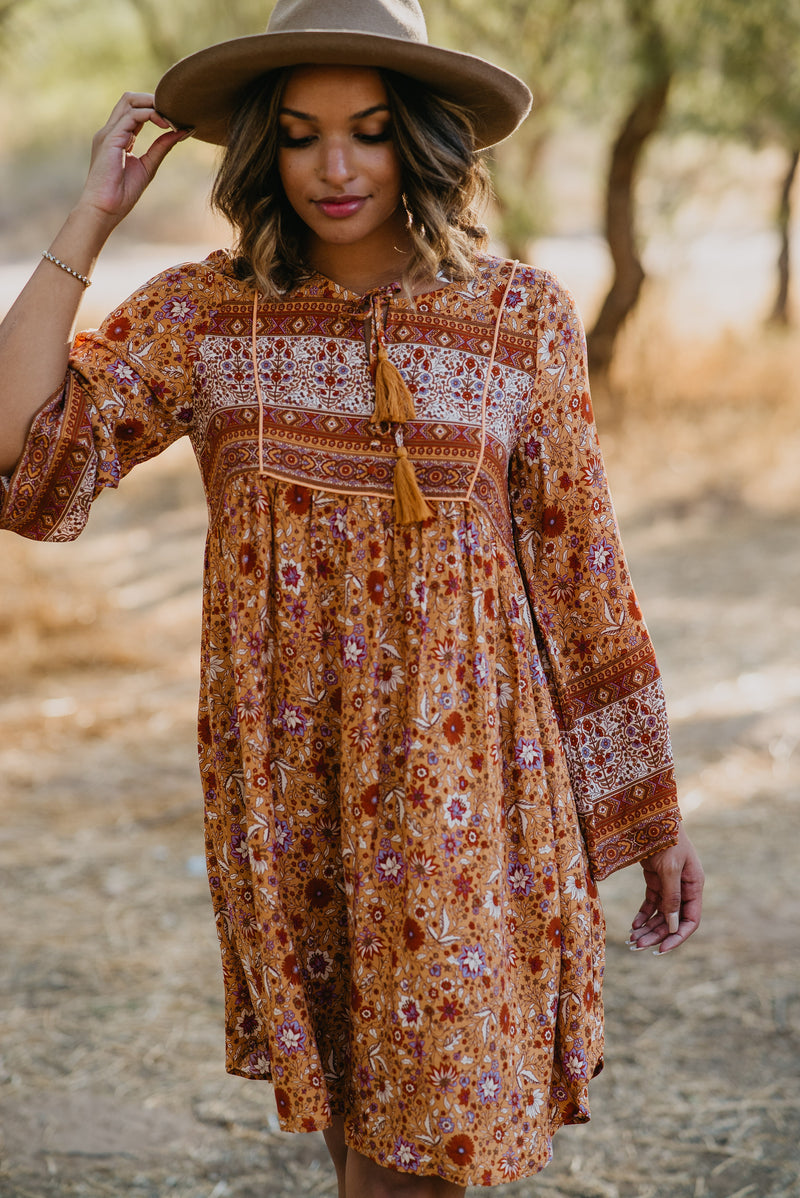 The Chimera Floral Maxi in Wine (Sizes S-XL)