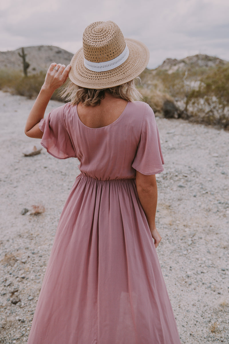The Damara Faux Wrap Redux in Mauve