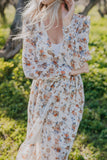The Kamberlyn Floral Maxi in Ivory