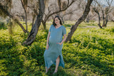 WI Basics: The Tess Solid Maxi in Light Sage (Sizes S-3X)