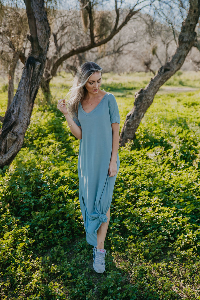 WI Basics: The Tess Solid Maxi in Light Sage