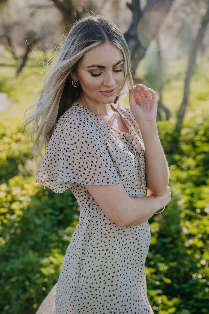 The Lindi Polka Dot Midi (Sizes S-3X)