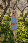 WI Basics: The Jeta Dress in Dusty Blue (Sizes 1X - 3X)