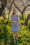 The Tirsa Embroidered Stripe Dress