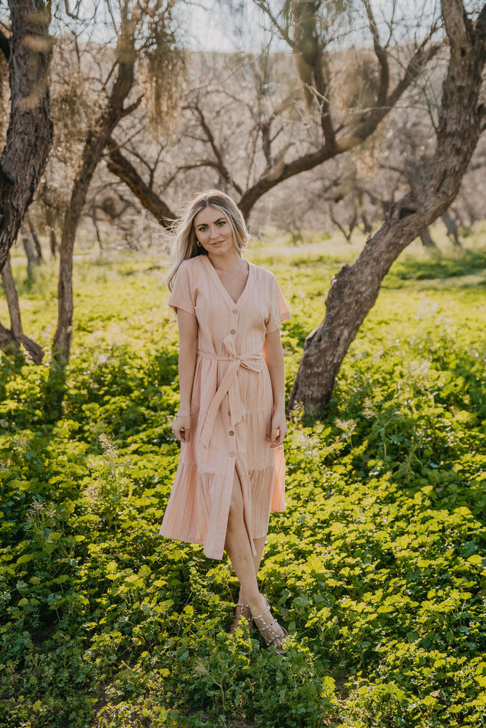 The Gerrie Button Midi in Blush