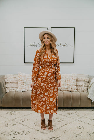 The Chimera Floral Maxi in Dusty Rose (Sizes 1X-3X)