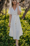 The Gerrie Button Midi in Ivory