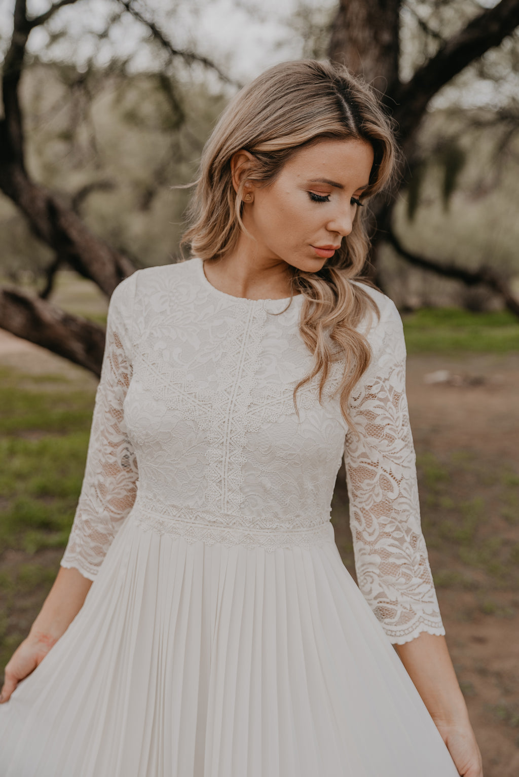 The Belmont Lace Dress in Ivory