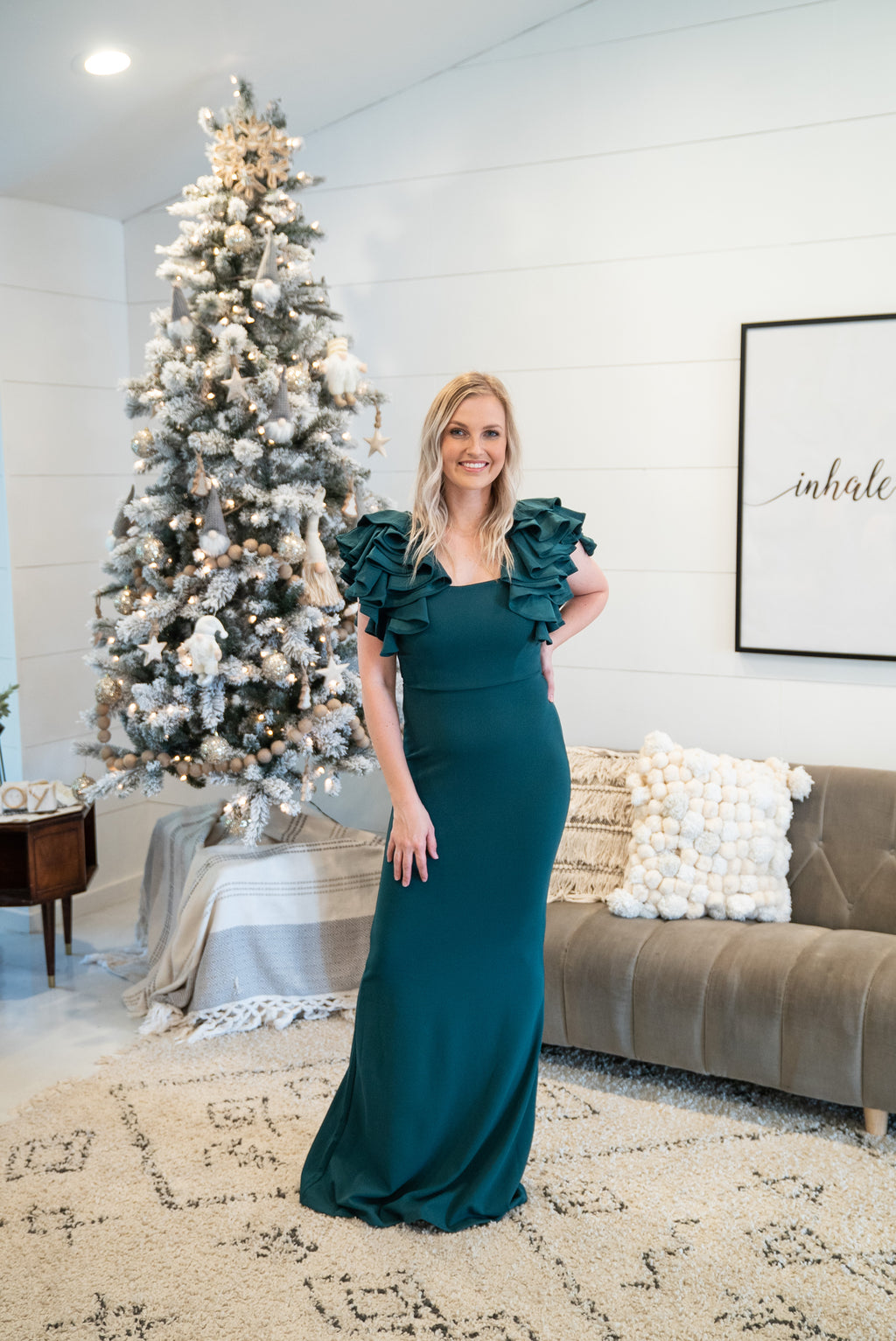 The Joyeux Gown in Evergreen