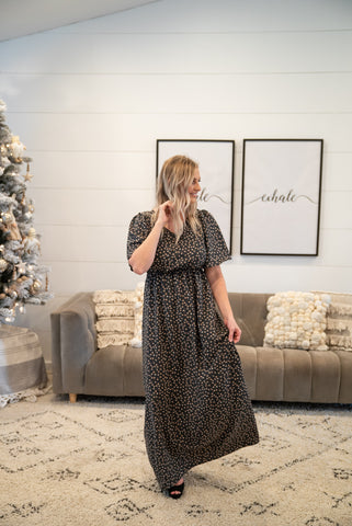 The Bodhi Floral Dress in Mocha