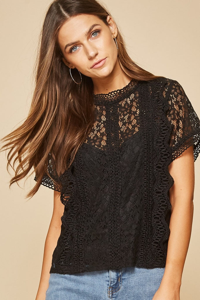 The Phoenix Lace Blouse in Black