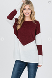 The Merinda Color Block Knit