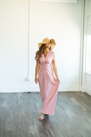 The Colbie Casual Dress in Mauve (Sizes S-3X)