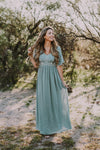 The Tempest Embroidered Maxi in Sage