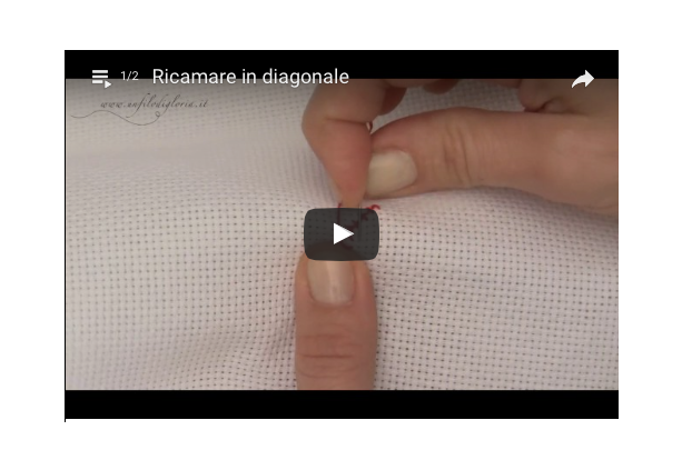 Ricamare in diagonale