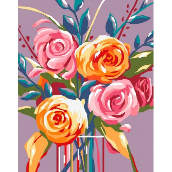 Paint by Numbers Kit Gentle Roses T16130028