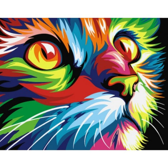 Paint by Numbers Kit Rainbow Cat T16130008