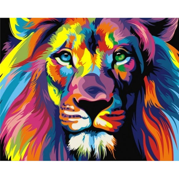 Paint by Numbers Kit Rainbow Lion T40502001