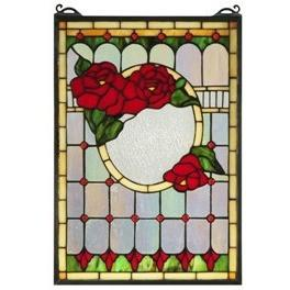 Morgan Rose Stained Glass Window- Free Shipping