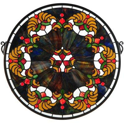 Middleton Medallion Stained Glass Window- Free Shipping