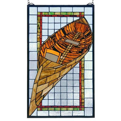 Guideboat Stained Glass Window- Free Shipping