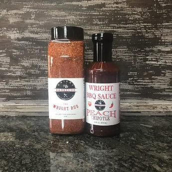 27oz Wright Rub And 16oz Peach Chipotle Sauce