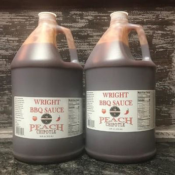 Two Gallons Peach Chipotle BBQ Sauce- Free Shipping