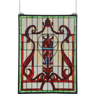 Baroque Vase Stained Glass Window- Free Shipping