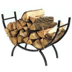 "Sunnydaze Curved Firewood Log Rack and Cover Combo 48""- Free Shipping"