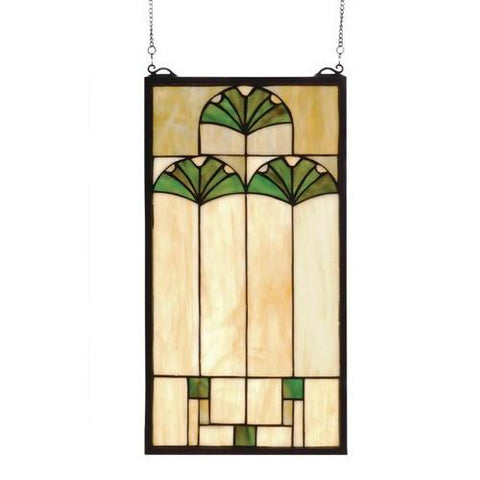 Ginkgo Stained Glass Window- Free Shipping