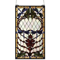 Dragonfly Allure Stained Glass Window- Free Shipping