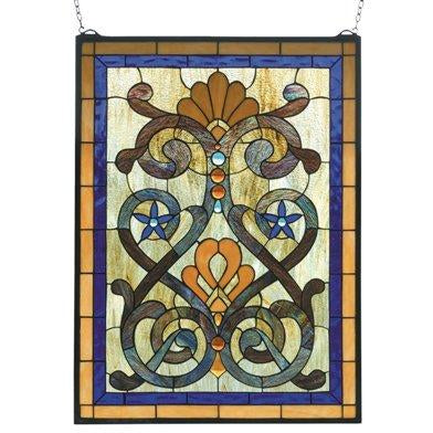 Mandolin Stained Glass Window- Free Shipping
