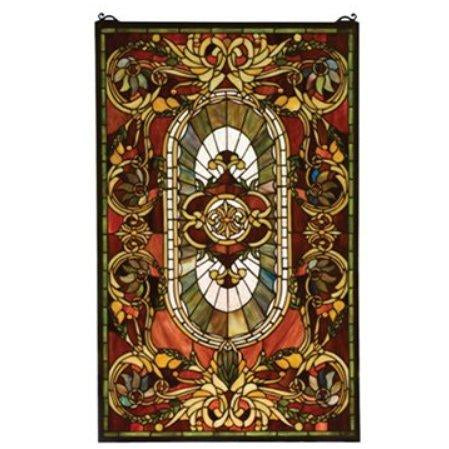 Regal Splendor Stained Glass Window- Free Shipping
