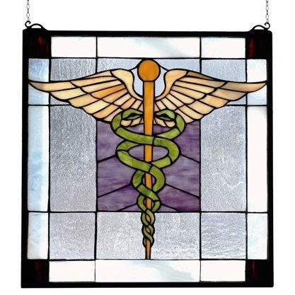 Medical Stained Glass Window- Free Shipping