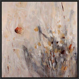 ABSTRACT FLOWERS II 28L X 28H Floater Framed Art Giclee Wrapped Canvas- Free Shipping