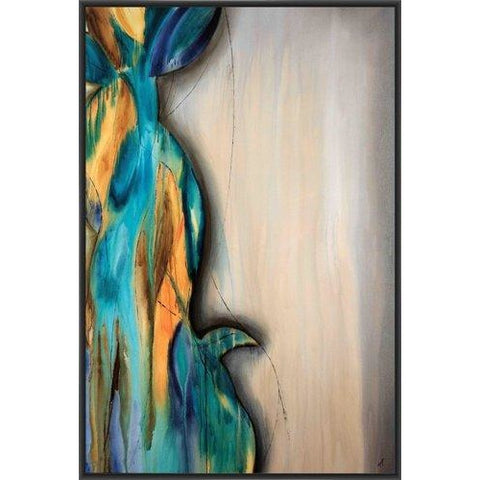 ANSE LUZIO 22L X 28H Floater Framed Art Giclee Wrapped Canvas- Free Shipping