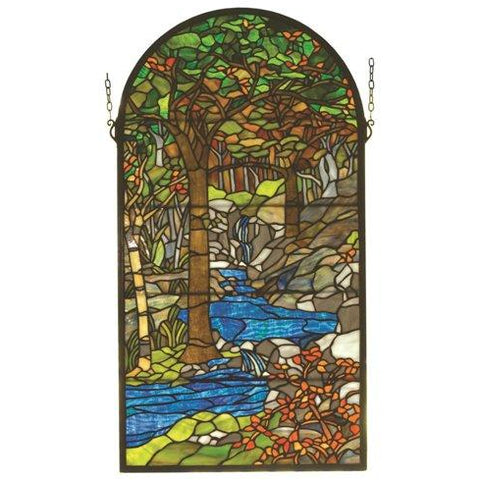 Tiffany Waterbrooks Stained Glass Window- Free Shipping