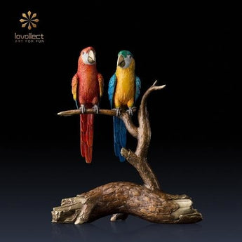 Lovollect Macaw in Love Sculpture