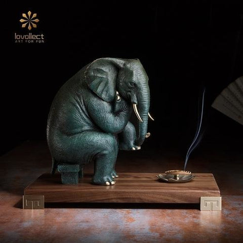 Lovollect Thinker in Elephant Figurine
