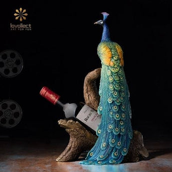Lovollect Royal Peacock Wine Holder