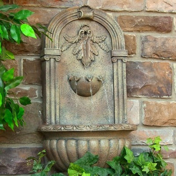 Sunnydaze Florence Outdoor Wall Fountain- Multiple Colors & Free Shipping