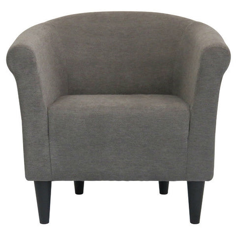 Graphite Grey Modern Classic Upholstered Accent Arm Chair Club Chair