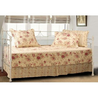 Antique Rose Quilted Daybed Cover Bedding Ensemble Set