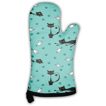Cute Cats And Mice Pattern Oven Mitt- Free Shipping