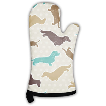 Dachshunds Varieties Pattern Oven Mitt- Free Shipping
