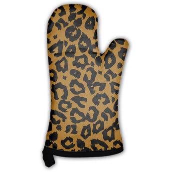 Leopard Pattern Oven Mitt- Free Shipping