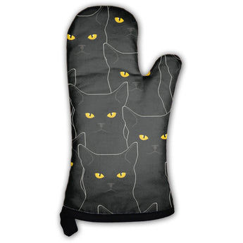 Black Cats Pattern Oven Mitt- Free Shipping