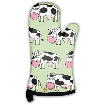 Cartoon Cows Oven Mitt- Free Shipping