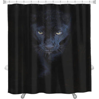 Black Panther Shower Curtain- Free Shipping