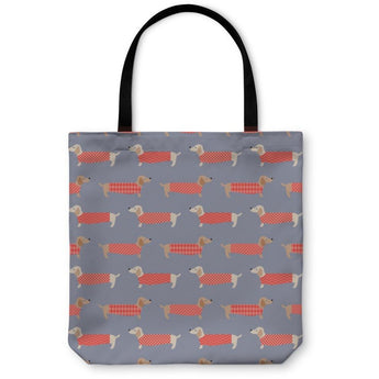 Dachshund Dogs Pattern Tote Bag- Free Shipping